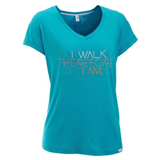 T-shirt korte mouwen trekking dames Arpenaz 100 - 450619