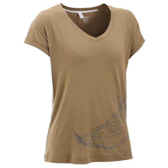 T-shirt korte mouwen trekking dames Arpenaz 100 - 450627