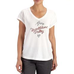 T-shirt korte mouwen trekking dames Arpenaz 100 - 450648