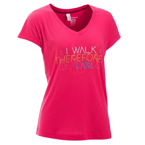 T-shirt korte mouwen trekking dames Arpenaz 100 - 450660