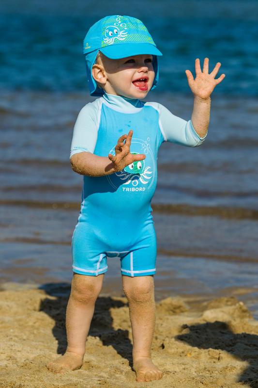 SHORTY UV Bébé Octo Bleu
