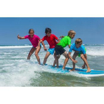 Water camiseta anti-UV surf manga corta niños verde