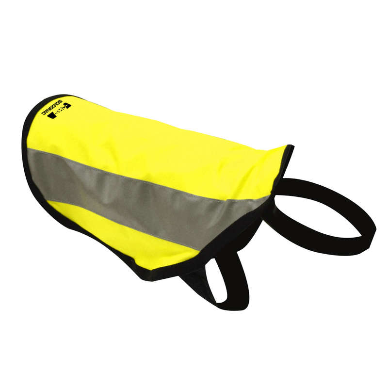 DOG ACCESSORIES Clothing  Accessories - DOG COAT HIGH VISIBILITY YELLOW SOLOGNAC - Clothing  Accessories