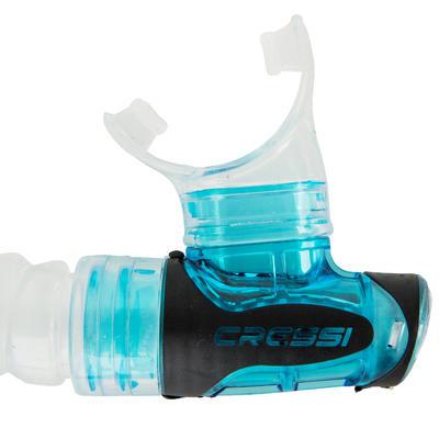 Tuba de plongée snorkeling Gamma adulte Bleu