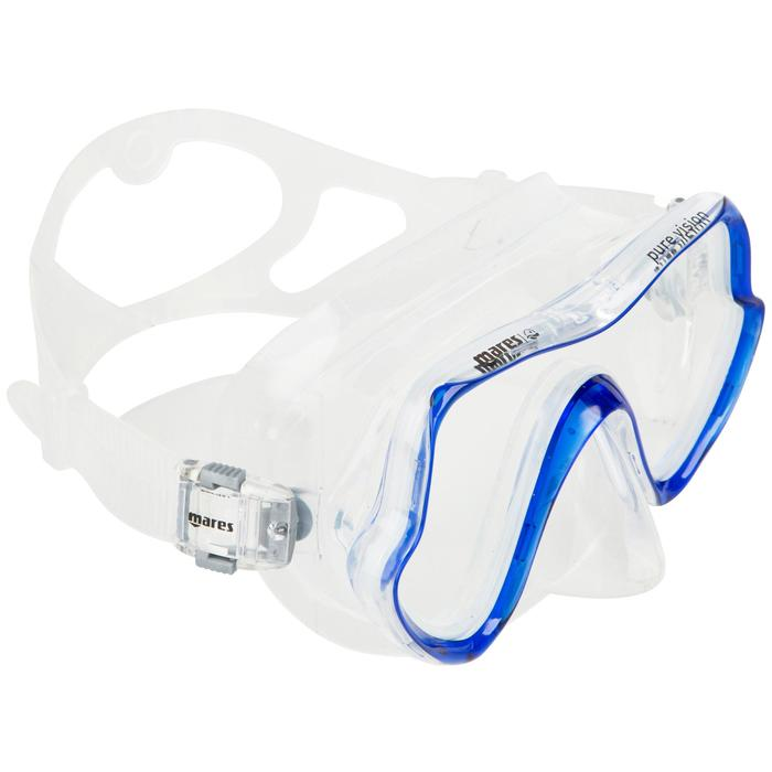 Masque de plongée sous-marine Pure Vision bleu - 452022