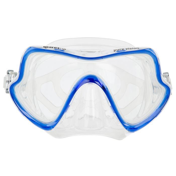 Masque de plongée sous-marine Pure Vision bleu - 452027