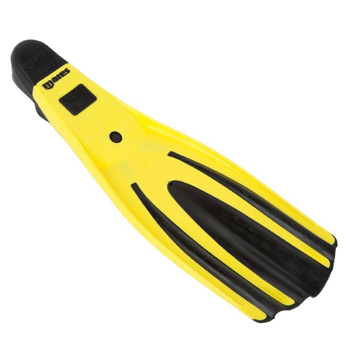 Palmes de plongée Avanti Superchannel jaunes et noires - 452034