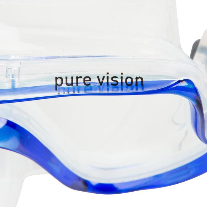 Masque de plongée sous-marine Pure Vision bleu - 452036