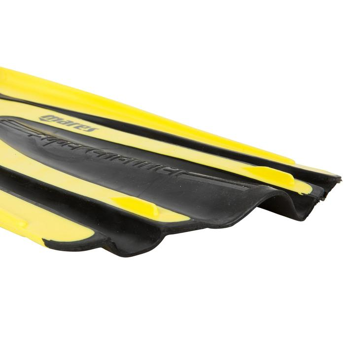 Palmes de plongée Avanti Superchannel jaunes et noires - 452037