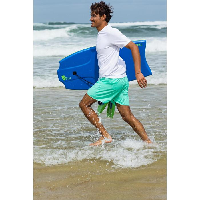 WATER tee SHIRT anti UV surf Manches Courtes Homme Blanc