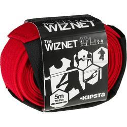 Beachvolleyballnetz The WizNet bis 5m rot