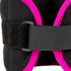 Verzwaarde polsbandjes voor aquafitness zwart/roze - 452666