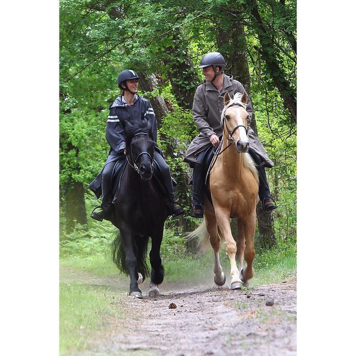 Poncho équitation adulte SENTIER gris foncé avec bandes réfléchissantes