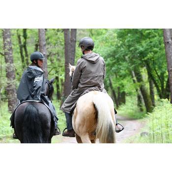 Regenjas Sentier voor volwassenen ruitersport bruin