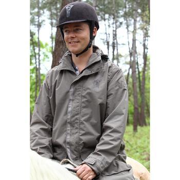 Poncho Equitación Fouganza Sentier Adulto Marrón Impermeable