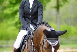 Wedstrijdjasje Classic voor dames, ruitersport, zwart - 452991