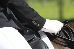 Wedstrijdjasje Classic voor dames, ruitersport, zwart - 453000
