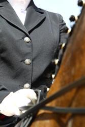 Wedstrijdjasje Classic voor dames, ruitersport, zwart - 453001
