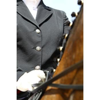 Wedstrijdjasje voor dames ruitersport Comp 500 marineblauw