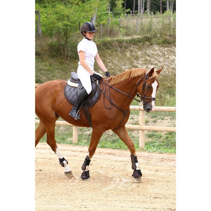 Chemise manches courtes Concours équitation femme blanc broderie argent - 453008
