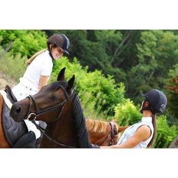Camisa Manga Corta Equitación Okkso Mujer Blanco Concurso y Competición