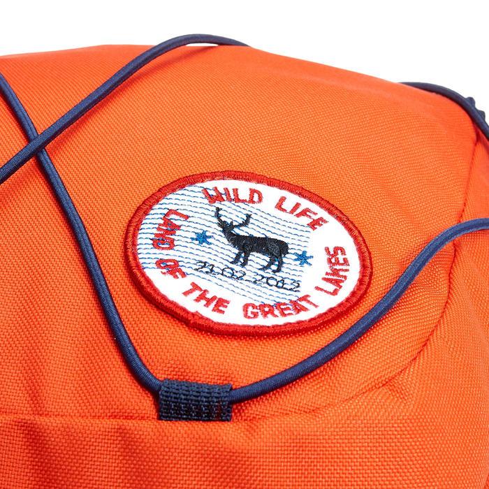 Sac à dos FORCLAZ 50 EASYFIT JUNIOR Rouge, le sac a dos à réglage automatique!