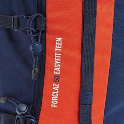 Rucksack Wandern MH500 EasyFit Kinder rot
