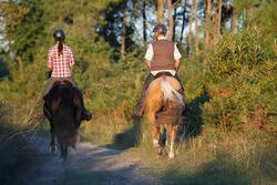 Damesblouse met lange mouwen Sentier ruitersport roze/wit geruit - 453371