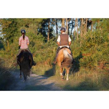 Chemise manches longues à carreaux équitation femme SENTIER rose et blanc - 453371