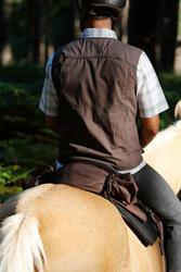 Herenrijbroek met rechte pijpen jeans zwart - 453383