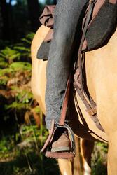 Herenrijbroek met rechte pijpen jeans zwart - 453384