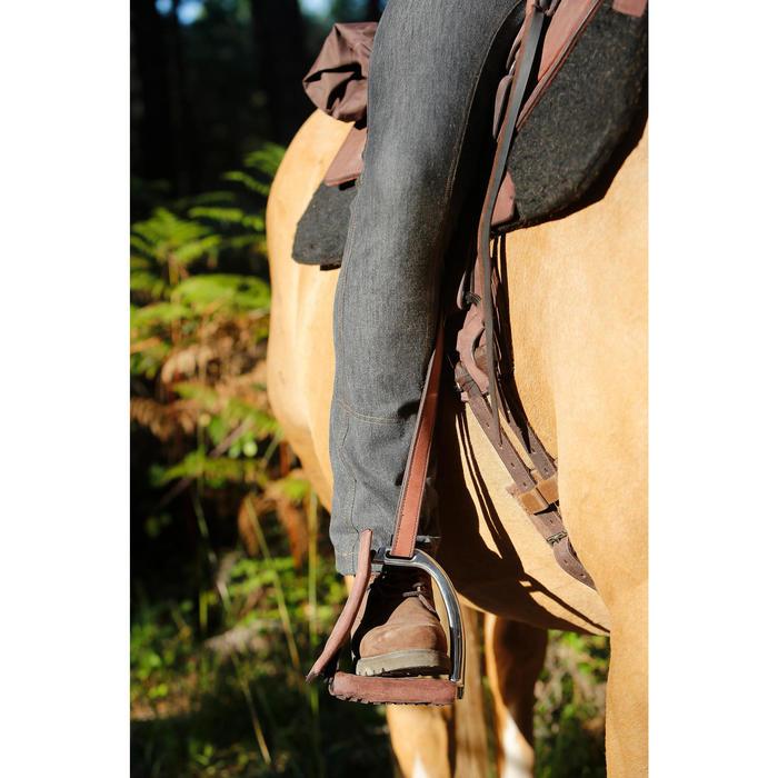 Pantalon équitation homme BAS DROIT jean noir