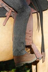 Herenrijbroek met rechte pijpen jeans zwart - 453388