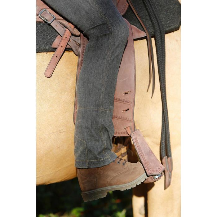 Herenrijbroek met rechte pijpen jeans zwart