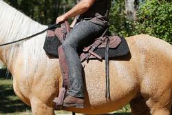 Herenrijbroek met rechte pijpen jeans zwart - 453390