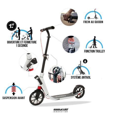 Town 9 Ef 15 Adult Scooter Titanium Oxelo