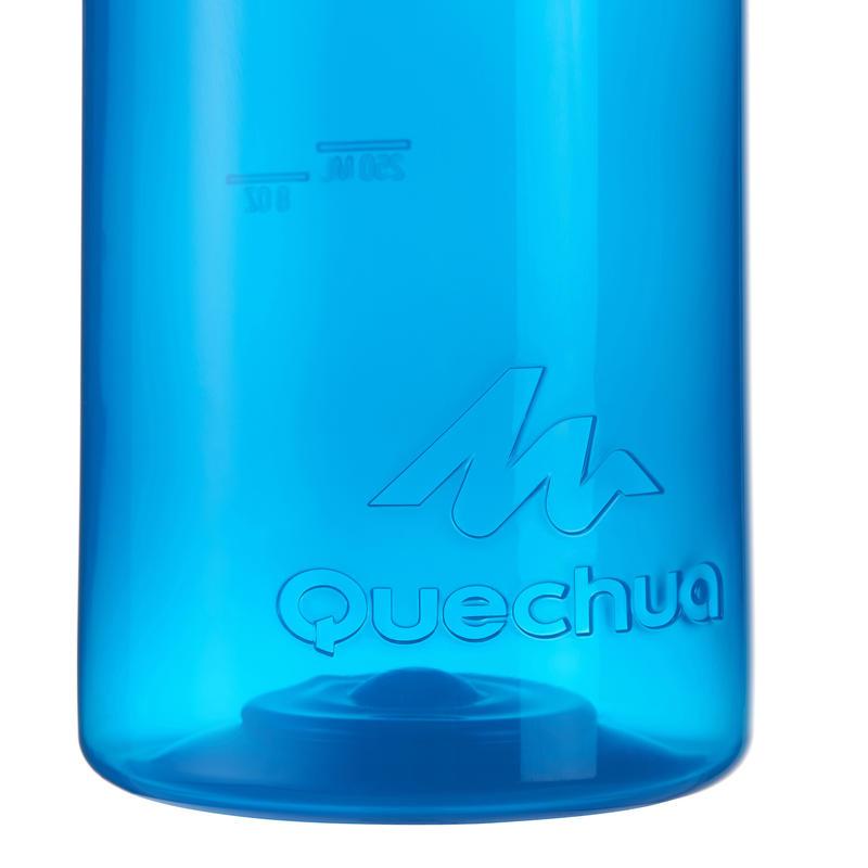 Gourde randonnée 100 bouchon à vis 0,75 litre plastique bleu
