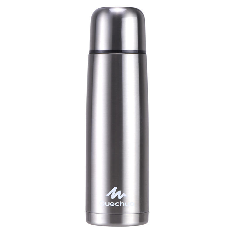 Stainless steel isothermal hiking bottle 1 litre metal
