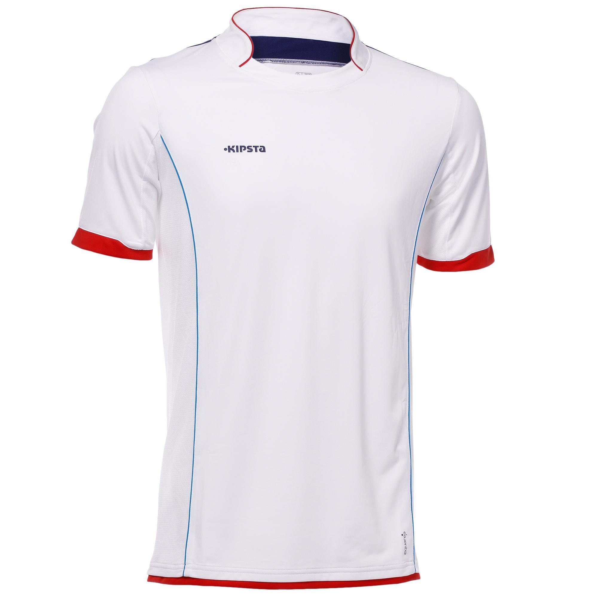 Maillot de football enfant f500 blanc kipsta by decathlon - Cadre maillot de foot ...