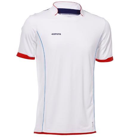 2626d85e334ab ... tee shirt foot decathlon Maillot de football enfant F500 blanc ...
