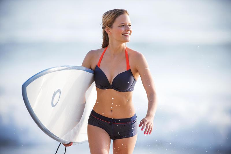 Haut de maillot de bain femme push up ELENA FJORD sur basque et avec armatures