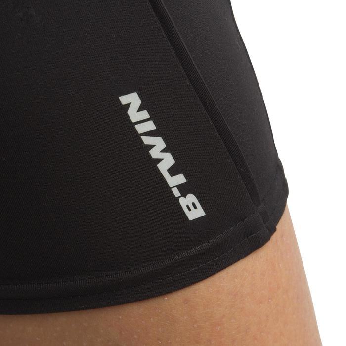Dameskuitbroek fietsen 300 2 in 1 zwart