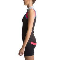 Fietsshirt zonder mouwen dames 900 zwart/roze - 455009