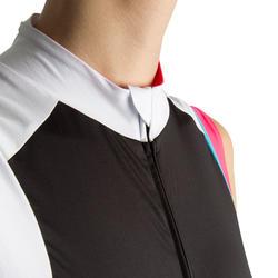 Fietsshirt zonder mouwen dames 900 zwart/roze - 455015