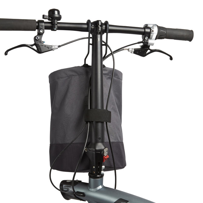 Compactible Folding Bike Pannier - Grey