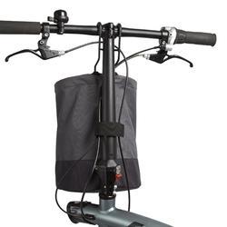 Klein opvouwbare fietstas voor vouwfiets grijs