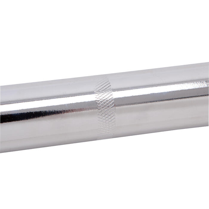 Barre de musculation filetée chrome 1.55m - 455123