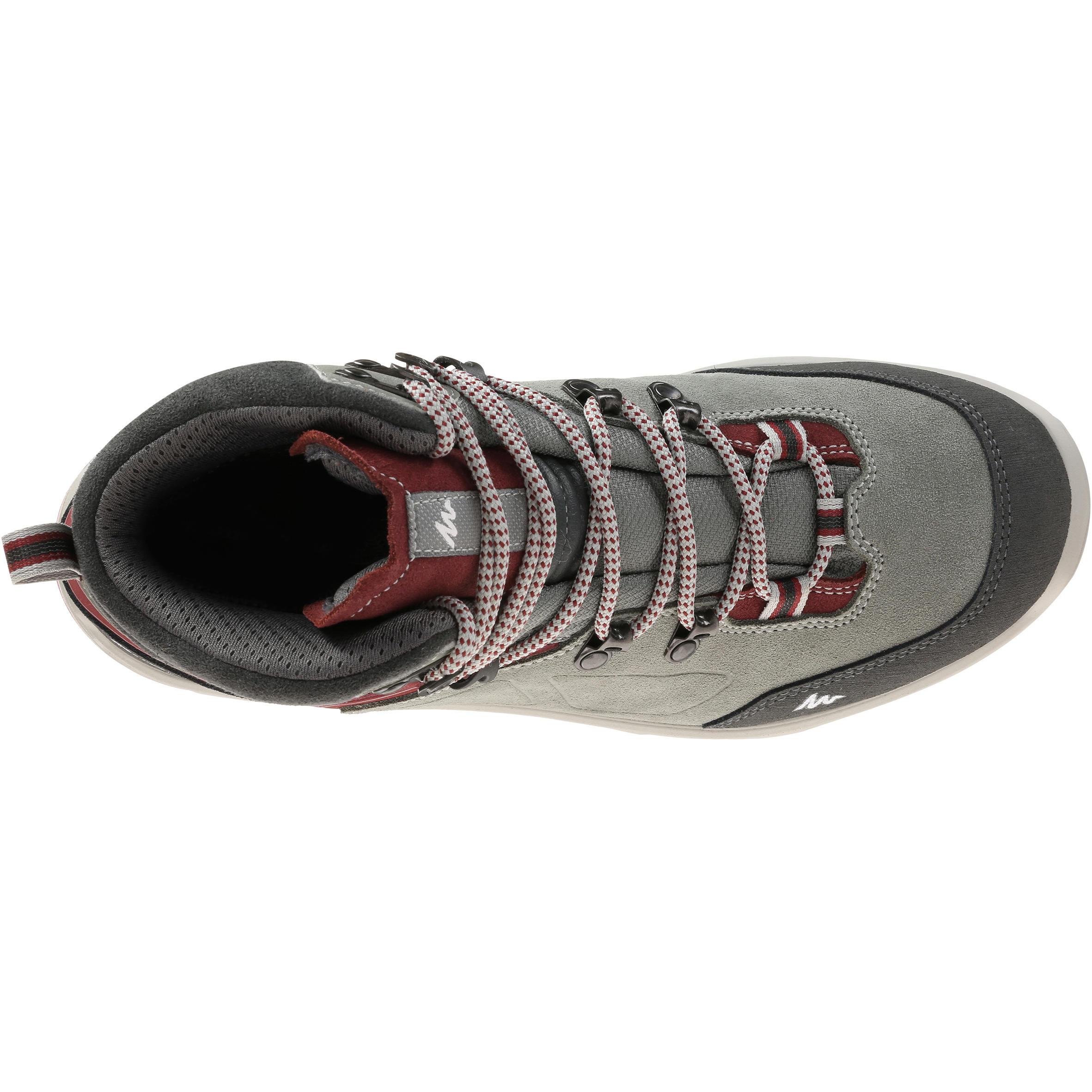 Trekking 100 Waterproof Woman's Shoe - Grey