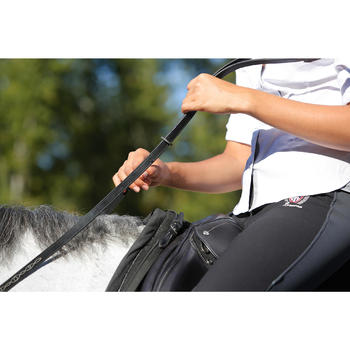 Rênes allemandes cuir et corde équitation cheval ROMEO - 456034
