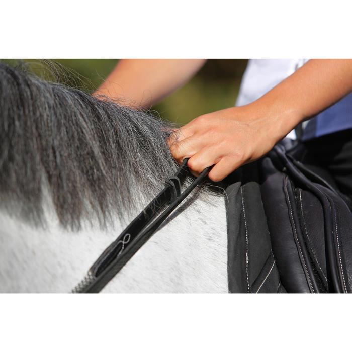 Riendas Alemanas cuero y cuerda equitación caballo ROMEO marrón